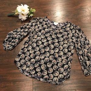 Anthro Maeve | geometric circle printed blouse